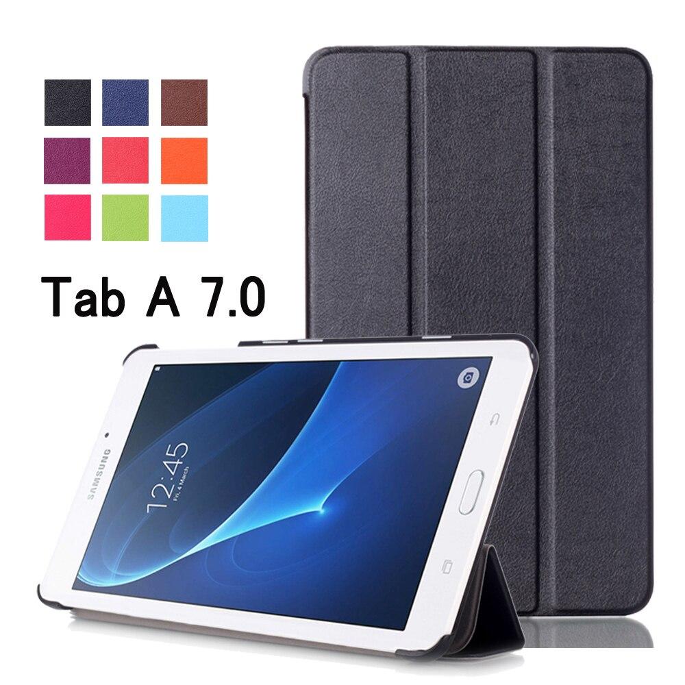 Pour Samsung Galaxy Tab A 7.0 SM-T280 SM-T285 D'affaires de Bande Dessinée peint Imprimer PU Cuir Flip Cover Case Pour Samsung T280 T285