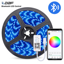 [DBF]Waterproof 5M/Roll 300LEDs 5050 Black PCB RGB LED Strip Light with Bluetooth 4.0 RGB Controller and DC12V 3A Power Adapter(China)