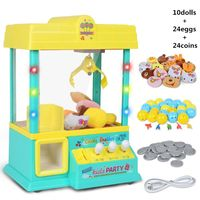 Premium New Boys Girls Claw Machine Music Light 60s Time Candy Grabber Prize Dispenser Vending Machine Birthday Christmas Gifts
