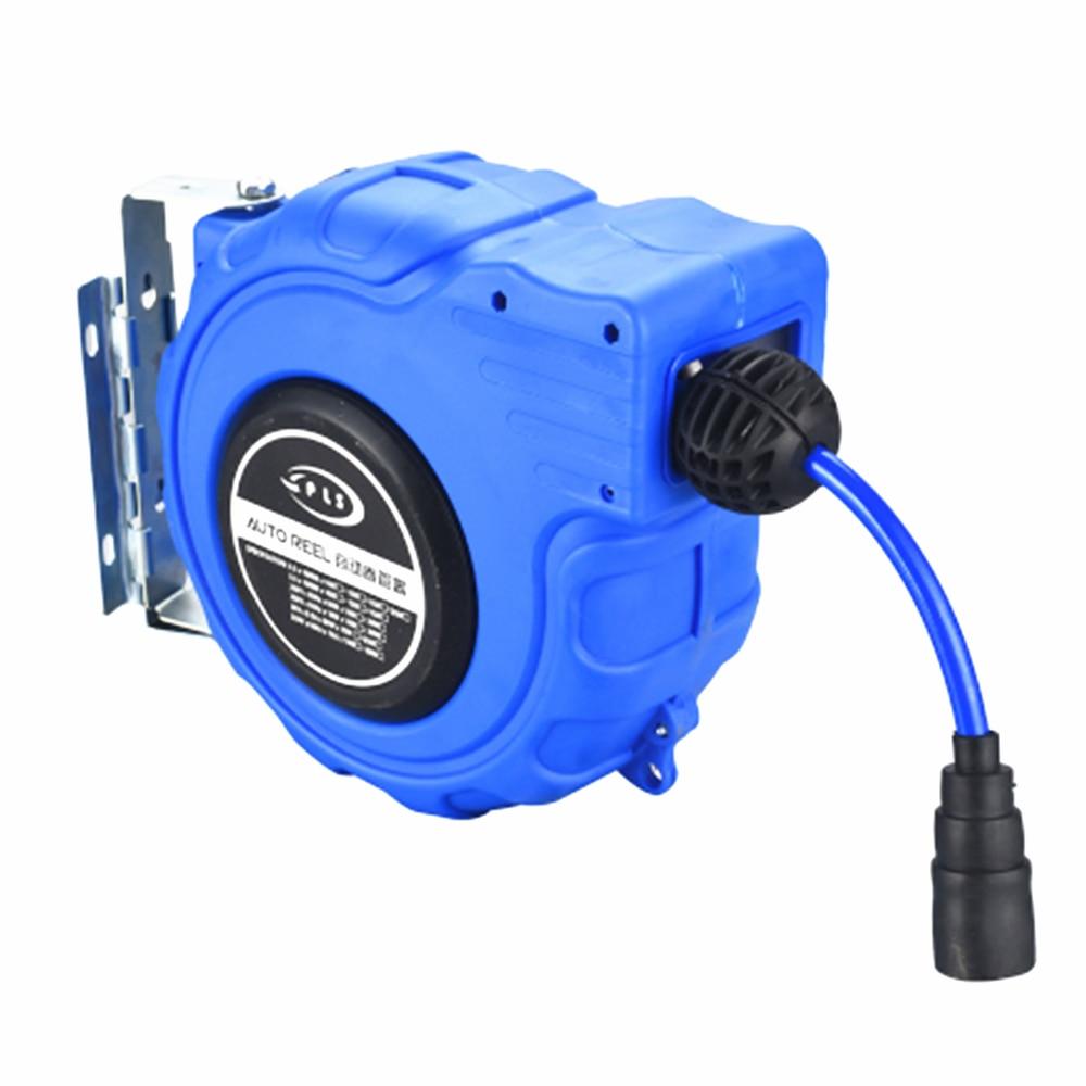 Pneumatic Pats Drum Automatic Retractable Pipe Winder PU Clip Pneumatic Tool Pneumatic Recovery Machine 15 Meter Air Compressor
