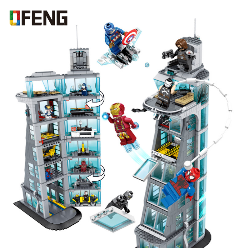 New Avengers Tower Building Block fit legoings endgame infinity wars figures Super Heroes ironman marvel Brick Chilren gift ToyNew Avengers Tower Building Block fit legoings endgame infinity wars figures Super Heroes ironman marvel Brick Chilren gift Toy