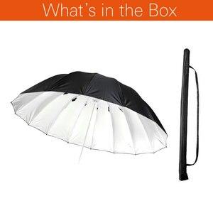 """Image 2 - Godox Studio Photogrphy 70 """"/178 cm argent noir éclairage réfléchissant lumière parapluie"""