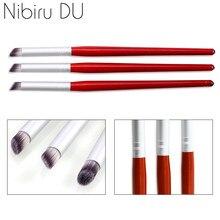 2 pçs/set Caneta Manicure Ferramentas Da Arte Do Prego Escova UV Gel Pintura Desenho DIY Acessório gradiente caneta Pigmento pintura de Unhas