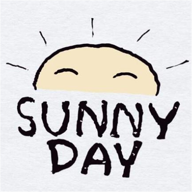 Cute SUNNY DAY pvc patch deal with it iron on transfers for clothing heat transfer patches for clothes girls t-shirt 3d stickers