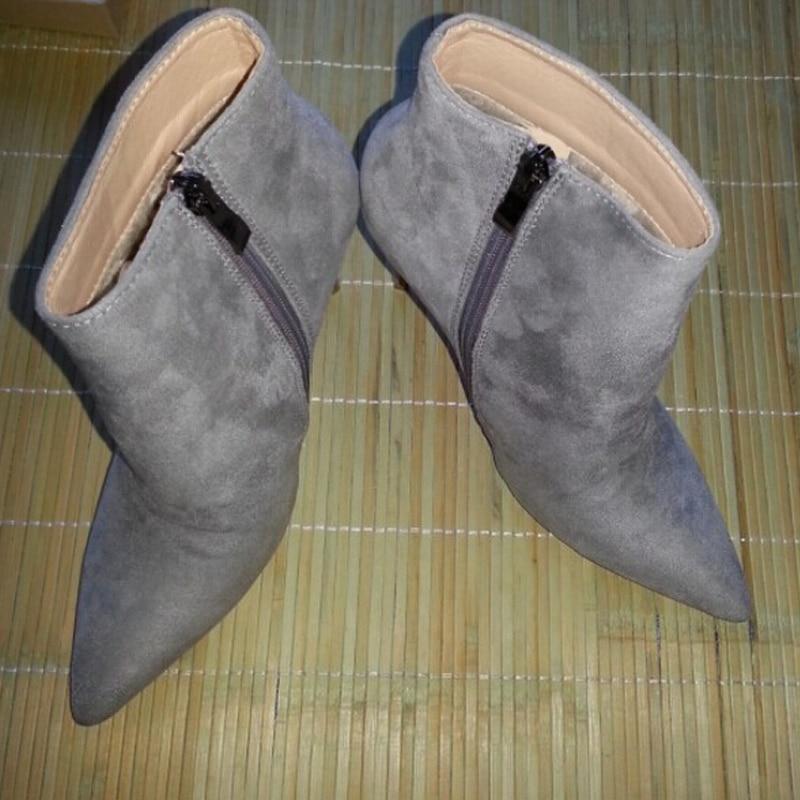 16 Pointu Cuir 4 La Ty01 Femmes Chaussures Fermeture Air D'hiver Hauts ty02 Plus Femelle En Verni De Éclair Troupeau Bout Talons Mince Neige Bottes Plein Cheville Et Taille ESY4qwS