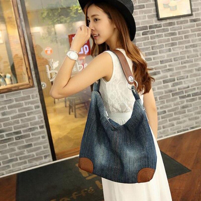 bolsa de ombro bolsa azul Blue Denim Shoulder Bags : Tote Denim Shoulder Crossbody