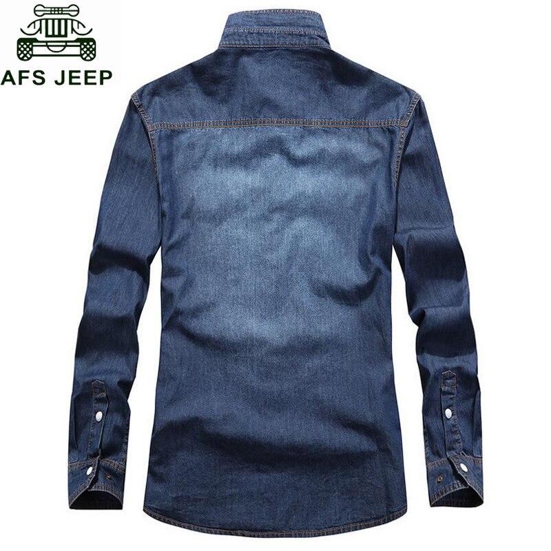 Hombre Marque Taille Chemise Longues À Camisa Jeans Manches Mode 5xl Deep 2018 Militaire light Masculina Jeep Denim Plus Shirt Blue Casual Blue Hommes De Afs Zq65wTZ