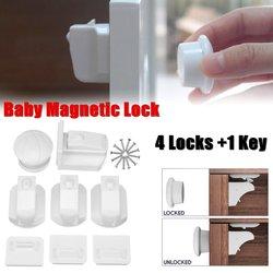 4 sztuk magnetyczne blokada dziecięca szafka dziecięca zamki bezpieczeństwa dla dzieci Armario szuflady szafki zamki szafka