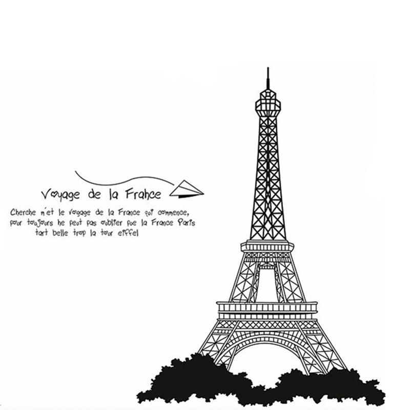 Eiffel Tower Wall Decor high quality eiffel tower wall decal promotion-shop for high