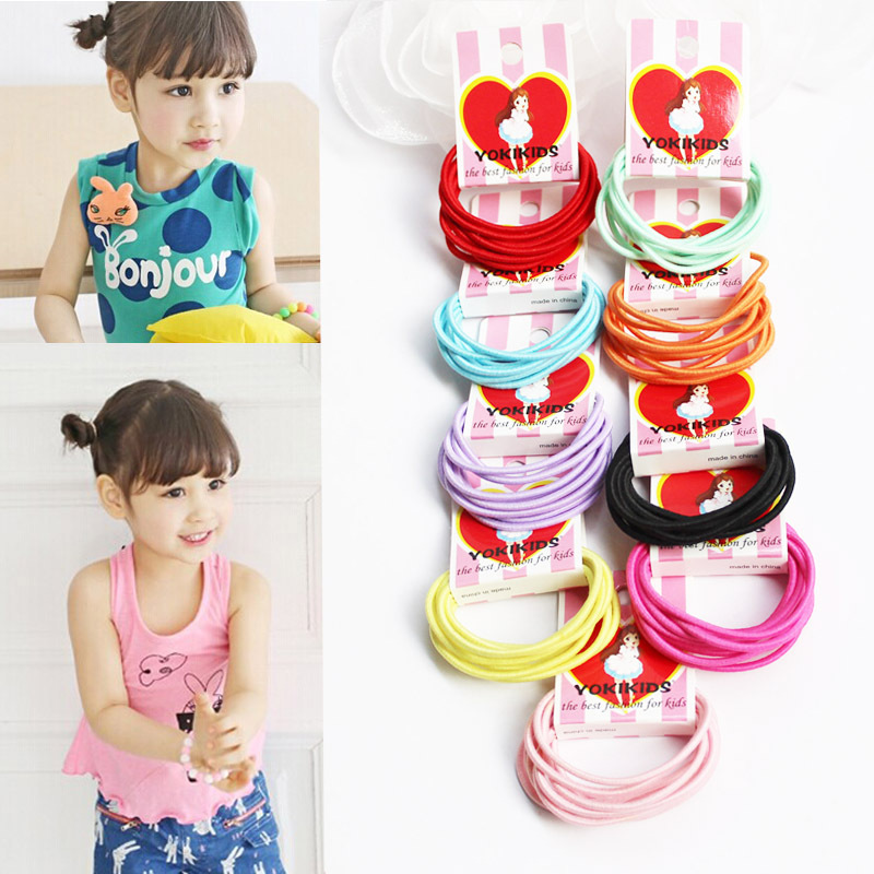 #40239 10pcs/pack candy color rubber band girls/baby/women rezinochki accessory high elastic hair rope tie headband gum for hair