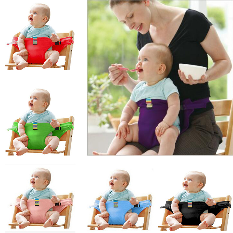 Pure Cotton Baby Dinning Chair Safety Belt,Portable Seat Lunch Chair Seat Stretch Wrap Feeding Chair Harness Fixed Straps