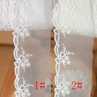 2018 hot sale lace accessories Japanese light pink rice white gauze embroidery lace 6 cm wide