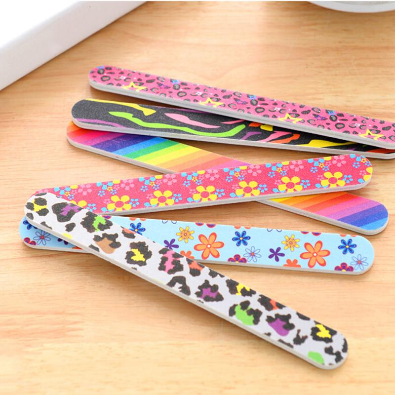 2Pcs/set Professional Art Nail File Buffers Durable Buffing Grit ...
