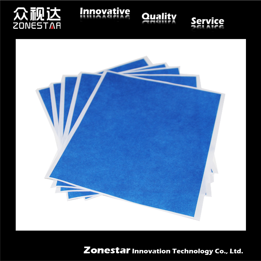 Azul cinta de Alta temperatura para impresora 3D kit DIY 5 hojas 200mm * 210mm p