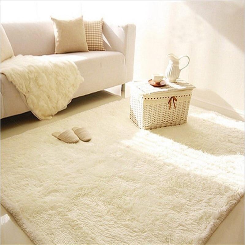 Personnalisé L soie moelleux tapis le salon thé table chambre lit tapis tapis porte tapis