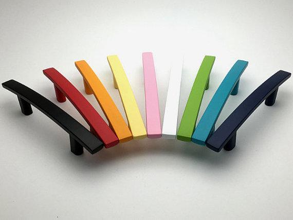 3 Colorful Knob Drawer Pulls Kitchen Cabinet Door Handle Dresser