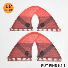 Surf Fins Future K2.1 Red,Green,Blue,Black Fiberglass,Honeycomb upsurf logo 4 in per set