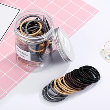 CHIMERA Hair Ties 100pcs/Lot Ponytail Holder Thick Nylon Elastic Band Adult Women Girls Accessories DIY Rubber Rope