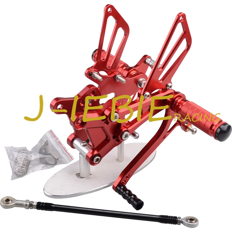 CNC Racing Rearset Adjustable Rear Sets Foot pegs For Honda CBR600 CBR 600 F4 F4I 1999 2000 2001 2002 2003 2004 2005 2006 RED hot sales for honda vtr1000f 97 05 1997 1999 2000 2001 2002 2003 2004 2005 vtr1000 f vtr 1000 f 1000f full red fairings