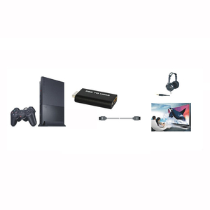 Thgs HDV-G300 ps2 to hdmi 480i/480 وعاء/576i الصوت والفيديو تحويل محول مع 3.5 ملليمتر إخراج الصوت يدعم جميع وسائط العرض ps2