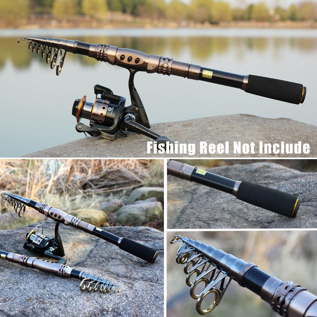 New Travel Spinning Rod Carbon Telescopic Fishing Rod Saltwater Freshwater Fishing