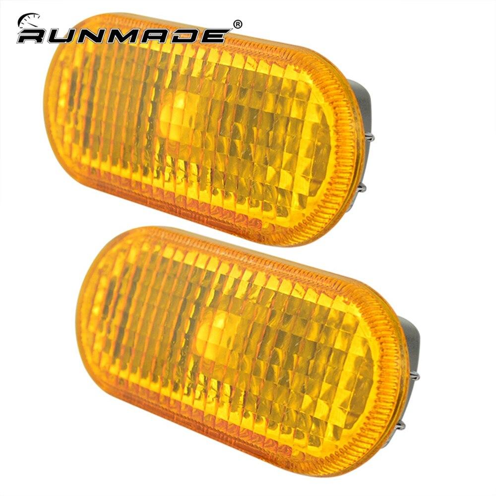 runmade For 1999-2004 VW Golf Jetta Mk4 Passat B5 Side Marker Light Housing Amber oem oil level sensor for vw jetta golf passat a6 tt quattro 03c 907 660m 03c907660m 03c 907 660 m