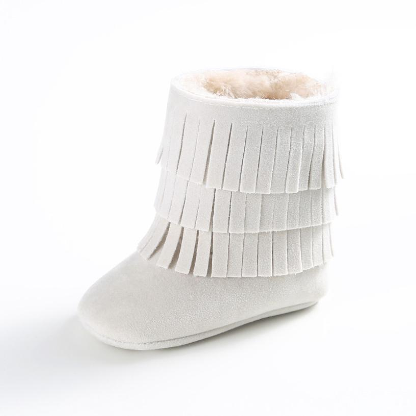 BMF TELOTUNY Baby Keep Warm Double-deck Tassels Soft Sole Snow Boots Soft Crib Shoes Toddler Boots First Walkers Apr19 Drop SHip