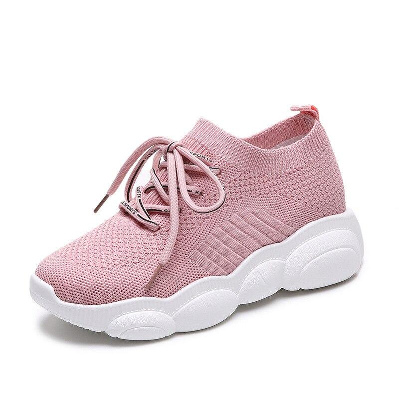 6e242fcef4 Simple Casuales rojo Mujer Zapatos Versátil De Zapatos rosado Color  Transpirable Cómodo Negro Moda Planos ¡2019 Malla Primavera Nueva Sólido  qnUzXgx.