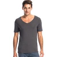 THREEGUN High Quality Seamless Men Modal T Shirt V Neck Fitness Body Tees Soft Cool Shirts