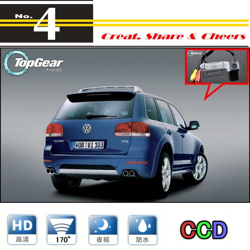 For Volkswagen VW Touareg 7L MK1 Car Camera High Quality Rear View Back Up Camera For PAL / NTSC To Tuning | CCD + RCA Connector