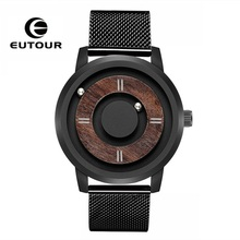 EUTOUR Magnetic Wood Watch Men 2019 Top Brand Luxury Casual Man Women Quartz Waterproof Leather Unisex Mens WristWatches