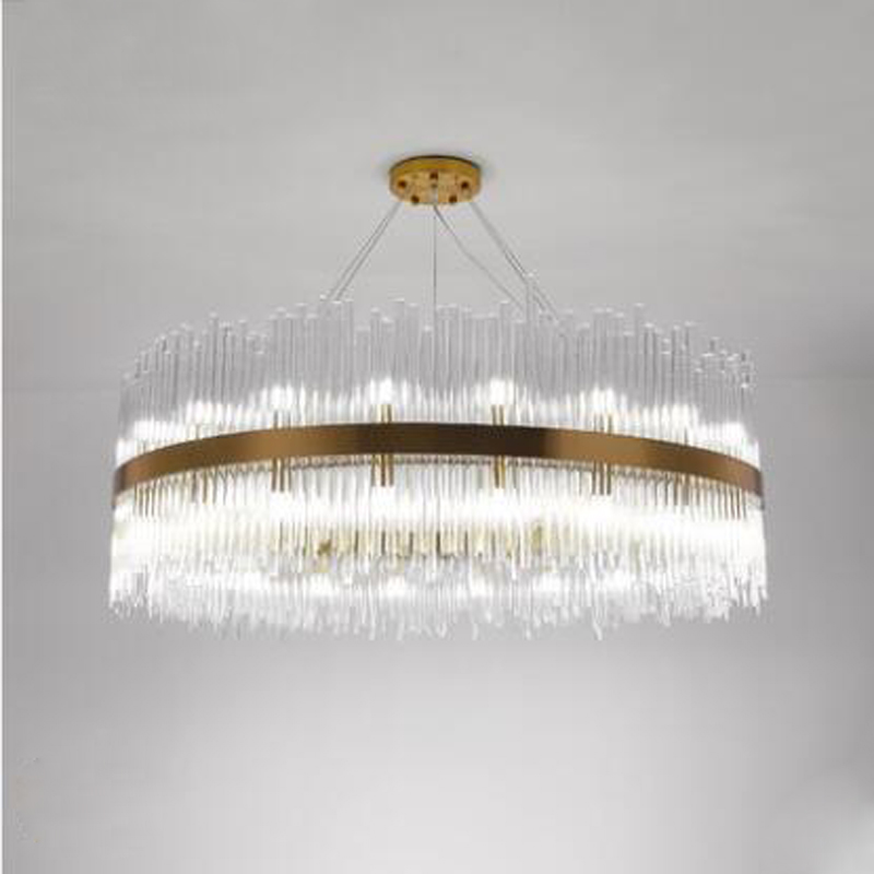 купить Postmodern living room chandelier minimalist creative bedroom Nordic chandelier designer new light luxury restaurant crystal LED онлайн