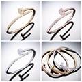 H bracelet pulseira feminina 2016 lrregular 18K plated bangles pulseiras stainless steel screw bracelet women 3 color jewelry