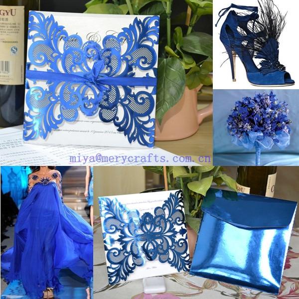 buy elegant royal blue wedding decoration