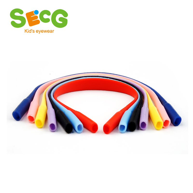 SECG Brand Glasses Holder Elastic Anti Slip Silicone Strap Retainer String Rope Eyeglasses Cord Rubber Band Outdoor Sports