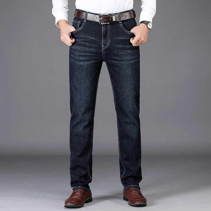 Мужские джинсы мужские классические модные брюки джинсовые байкерские Роскошные штаны похудания форма мешковатые прямые брюки дизайнерские
