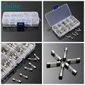 Fuse 100Pcs/Lot 10Kinds 5x20mm Fast Glass Fuses Kit 0.2A 0.5A 1A 2A 3A 5A 6A 8A 10A 15A 250V Insurance Tube Package with box
