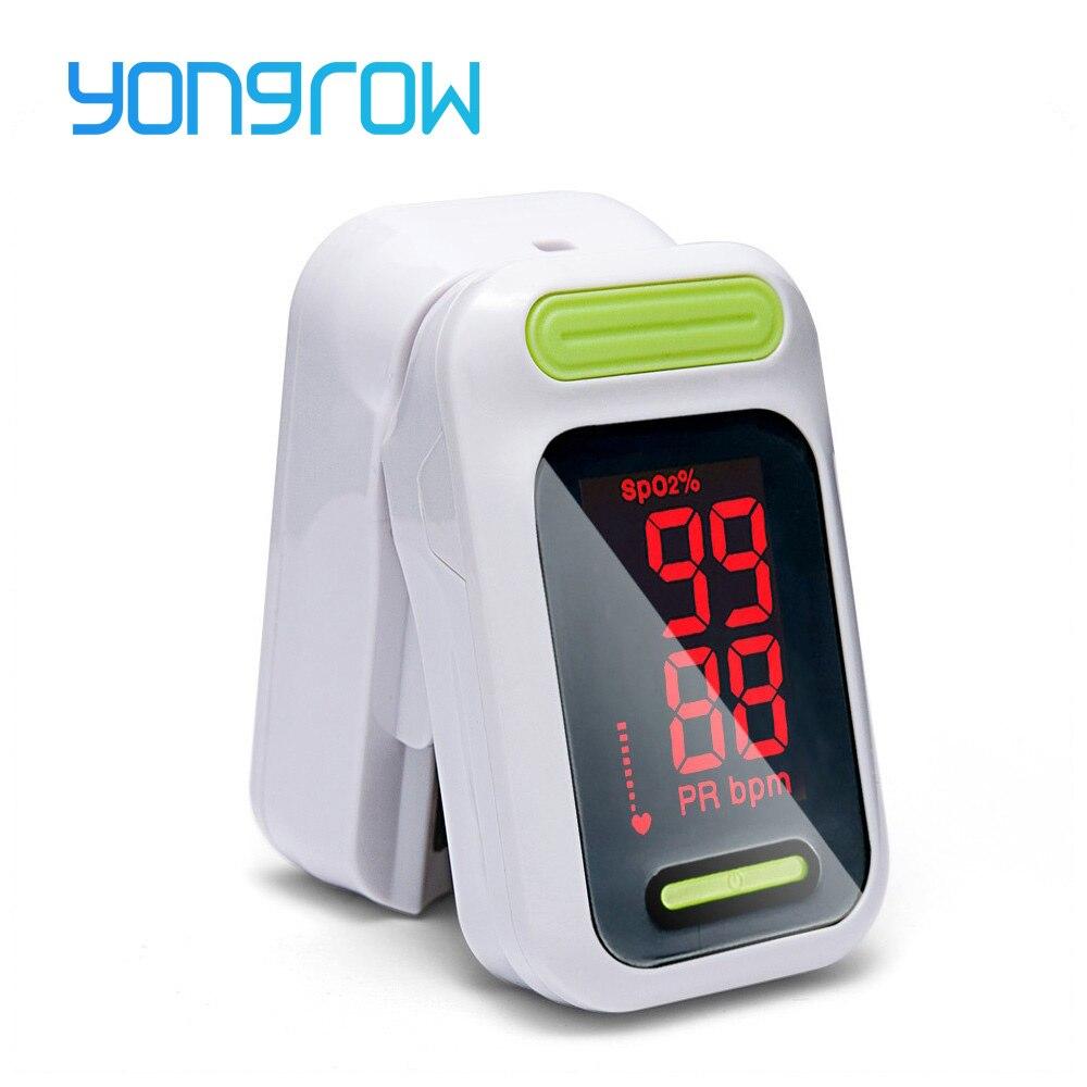 11,11 Heißer Yongrow Medizinische Tragbare digitale LED Finger-pulsoximeter Blut Sauerstoff Sättigung Monitor Gesundheit Pflege messen