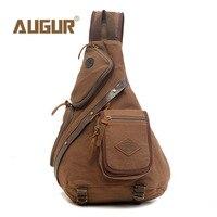 Augur Men Chest Back Pack Bag Satchel Single Shoulder Bag Fashion Canvas Backpack Man Rucksack Knapack Bolsas Male Rugzakken