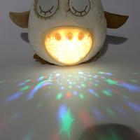 Baby Sleep LED Lighting Stuffed bear owl Led Night Lamp Plush Toy With Music & Stars Projector Light Baby Toys For Girl Children