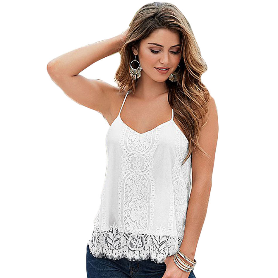 For size women tops camisole clothing lace