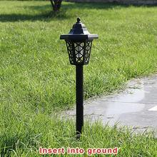 Led zasilany energią słoneczną lampa komar morderca zestaw LED Solar lampa trawnikowa wodoodporna odkryty ogród trawnik Yard chodnik u nas państwo lampy owad tanie tanio Światło słoneczne Awaryjne 1 2 v Ccc CE EMC RoHS Plastikowe Bateria litowa Żarówki led Nowoczesne IP44 Waterproof Solar Lawn Lamp