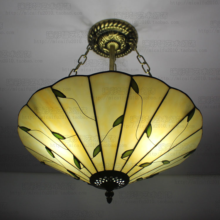 16 inch European tiffany style  leaves pendant light  bedroom balcony hallway  16 inch European tiffany style  leaves pendant light  bedroom balcony hallway