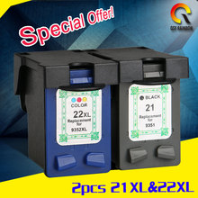 1 комплекты для HP21 22 Deskjet F2280 F2180 D1530 D1320 D1311 D1455 F2100 F4100 F4180 для HP Картриджи 21 и 22