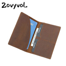 ZOVYVOL Genuine Leather Men Passport Wallet Travel Passport Holder Passport Case License Credit Card Holder Man Clutch Bag new pu leather passport cover holder women men travel credit card holder travel id card document passport holder