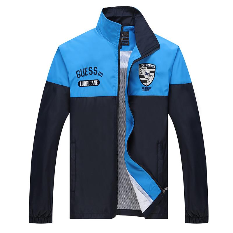 New Arrival Marka Dres Casual Sporta Kostiumu Mężczyźni Mody Bluzy Zestaw Kurtka + Spodnie 2 SZTUK Poliester Sportowej Mężczyzn 4XL 5XL SP019 7
