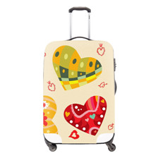 9 Elastic 18-30Inch Luggage Protective Cover Crazy Horse Print Travel Luggage Cover 3D Cartoon Waterproof Suitcase Cover Tetail
