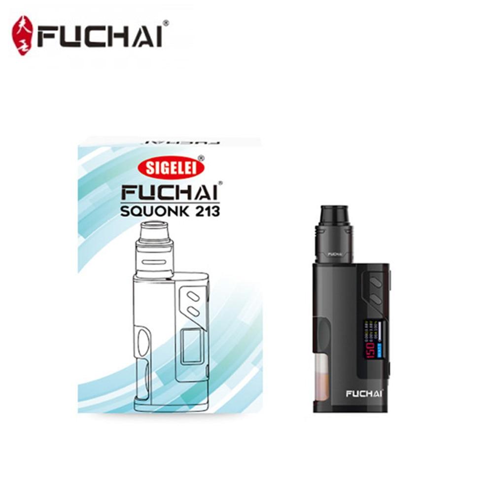 Fuchai 213 Squonk Kit 5 ml Capacité 150 w Squonk Boîte Mod E Cigarette Alimenté par 21700 18650 Batterie VS cuboid 150 Vaporisateur Kit - 5