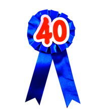 10pcs of new 40 brooch ribbon flower badge adult women man birthday celeration b