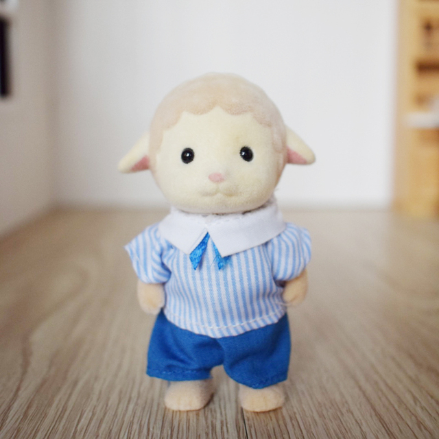 Cute Mini Sheep Brother and Sister Dolls 2 pcs Set